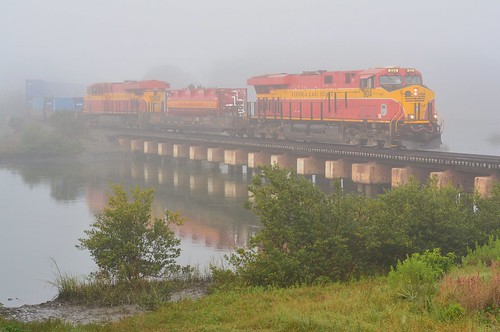 florida east coast railway fec 804 ge es44c4 locomotive train saint augustine san sebastian river bridge