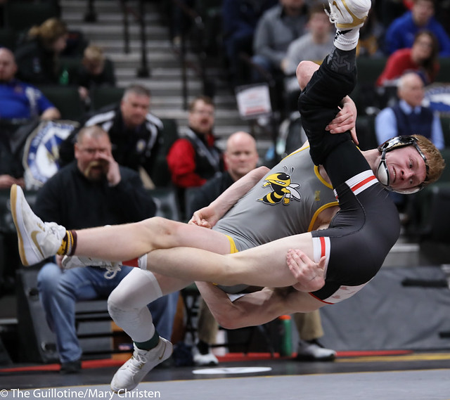 152AA Semifinal - Payton Anderson (Fairmont-Martin County West) 44-2 won in sudden victory - 1 over Jack Fudge (Perham) 39-3 (SV-1 7-3). 200229AMC1418