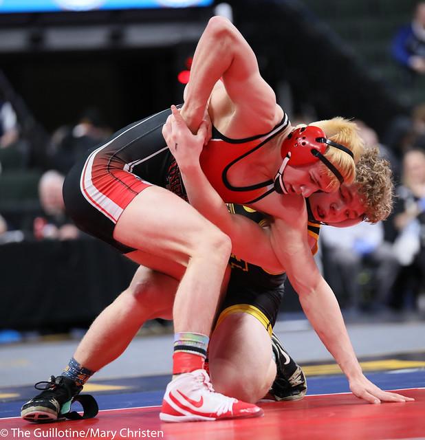 170-Wyatt Simon (MARI) over Ashton Hanan (Kimball Area) Dec (7-2). 200229AMC1057