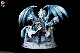 強韌☆無敵☆最強!Kitsune Statue《遊戲王》海馬瀨人&青眼究極龍 1/7比例雕像(Yu-Gi-Oh! - KAIBA ET L'ULTIME DRAGON BLANC AUX YEUX BLEUS)