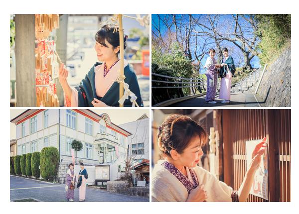 愛知県瀬戸市の観光スポット散策♪姉妹のような親子がお着物コーデ