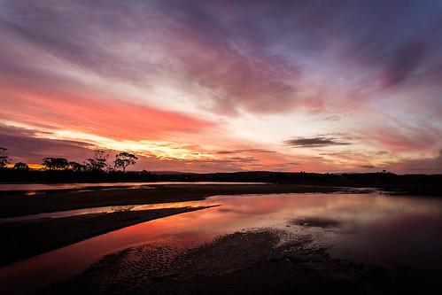 river reflection reflections swansea sunset sunrise ocean landscape tasmania tasmanian canon canon5dmark3 ef1740mmf4lusm eastcoasttasmania e