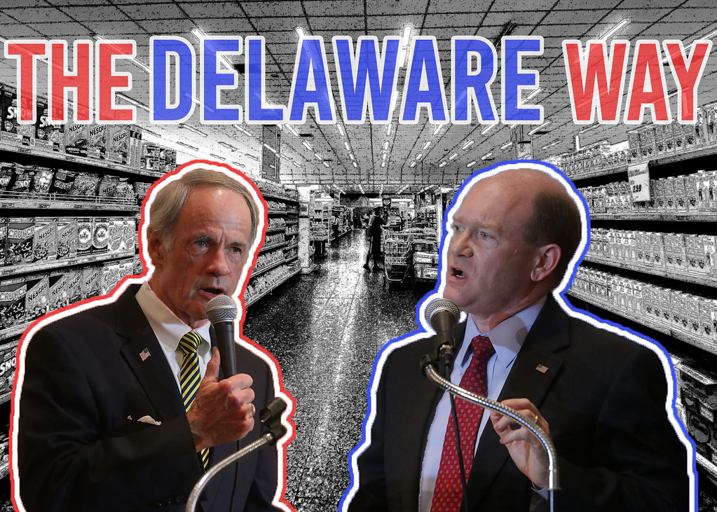 "Senators in supermarkets: Challenging incumbency and the ""Delaware way"""