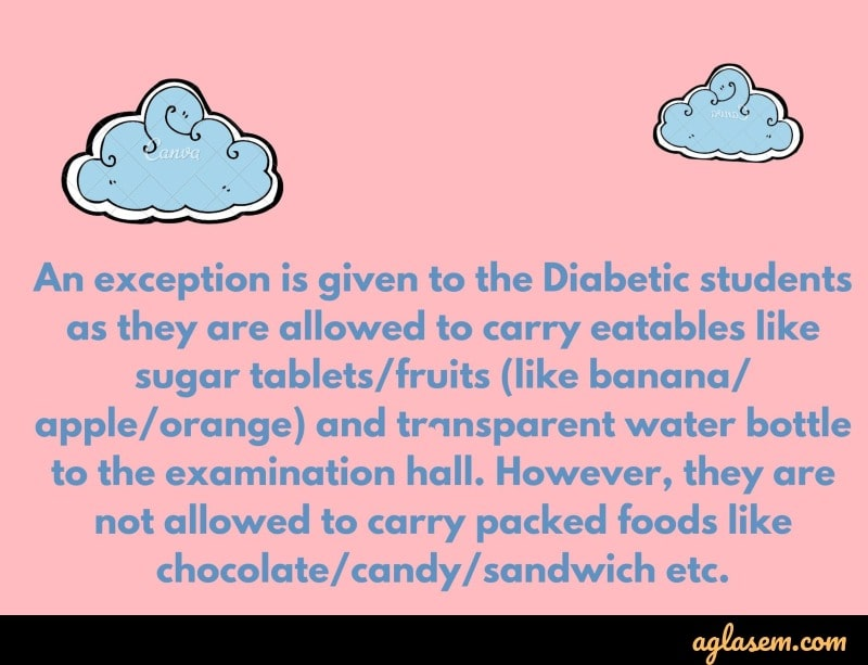Instruction for Diabetic Candidates