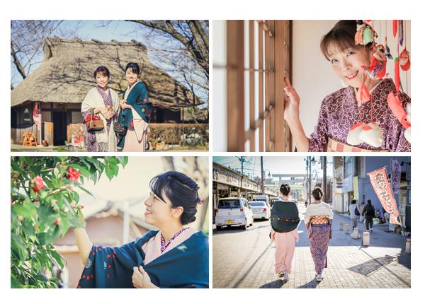 愛知県瀬戸市の観光地巡り♪親子でお着物コーデ 姉妹のようなお母さまとお嬢様