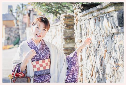 着物でめぐる愛知県瀬戸市の旧市街 気品あふれる和装美人