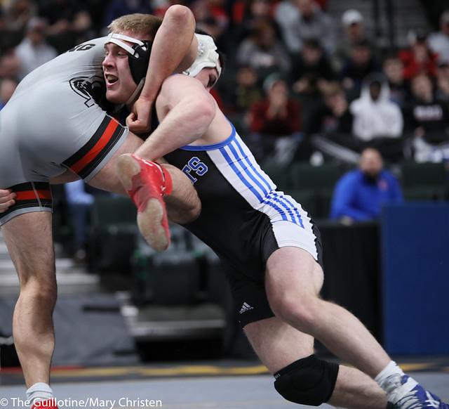 182AA Semifinal - Patrick Kennedy (Kasson-Mantorville) 36-0 won by tech fall over Tanner Young (Pierz) 37-5 (TF-1.5 2:14 (15-0)). 200229AMC1525