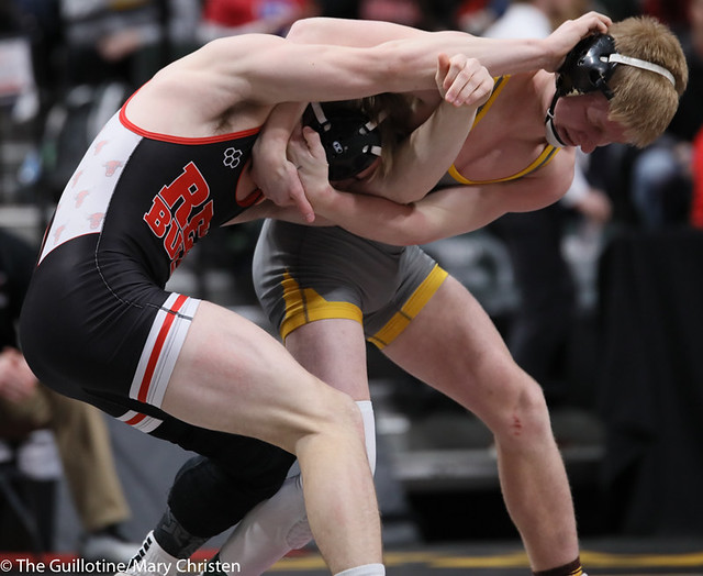 152AA Semifinal - Payton Anderson (Fairmont-Martin County West) 44-2 won in sudden victory - 1 over Jack Fudge (Perham) 39-3 (SV-1 7-3). 200229AMC1393