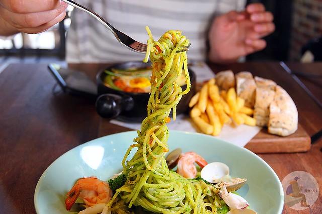 青醬漁夫海鮮麵