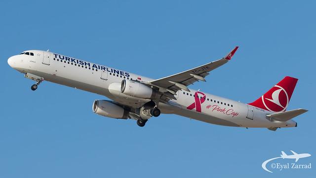 TLV - Turkish Airlines Airbus A321 TC-JTK