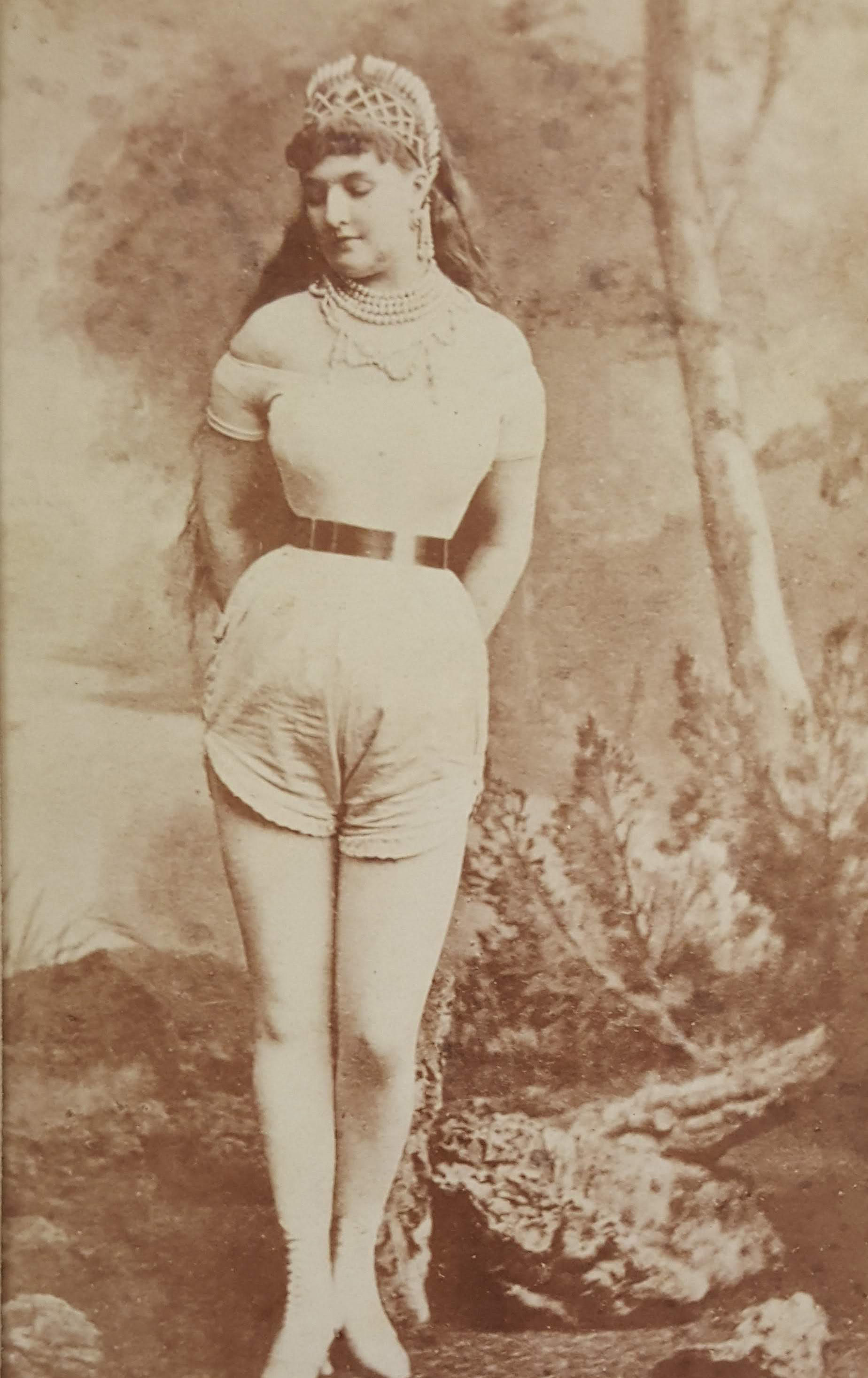 Amy Sheridan, as Lady Godiva, c. 1873, photographer unknown