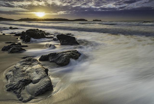 Sunset sur les Blancs-Sablons
