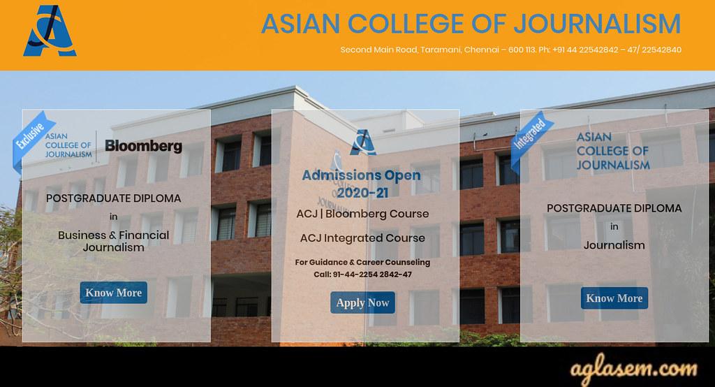 ACJ Entrance Exam Result 2020