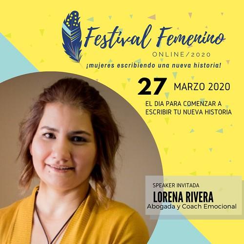 Lorena Rivera - Festival Femenino Online es uno de los eventos en directo que se celebra este mes de marzo