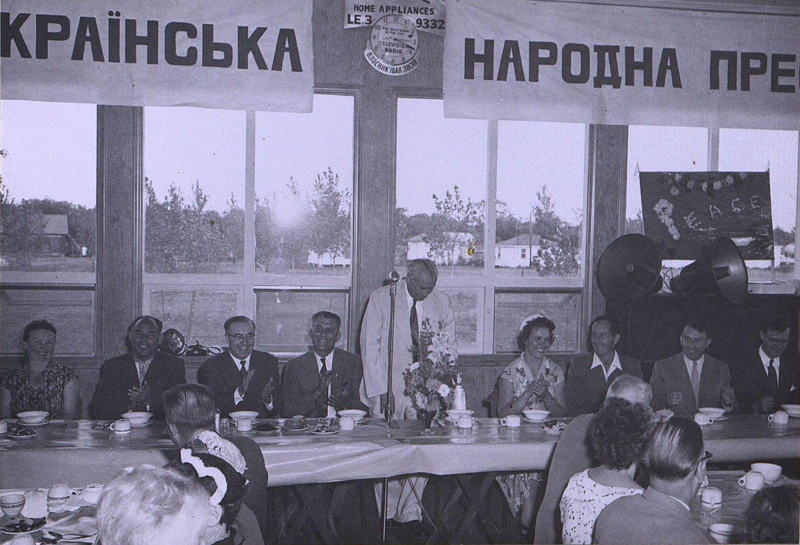 22. 1950-е. Гости из СССР. Банкет