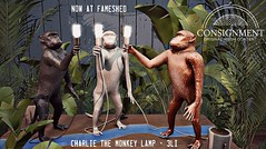 Charlie the monkey lamp @ FaMESHed