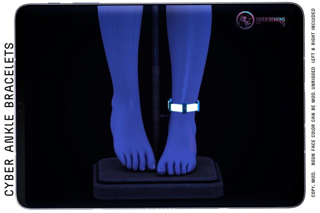 {ID} Cyber Ankle Bracelets