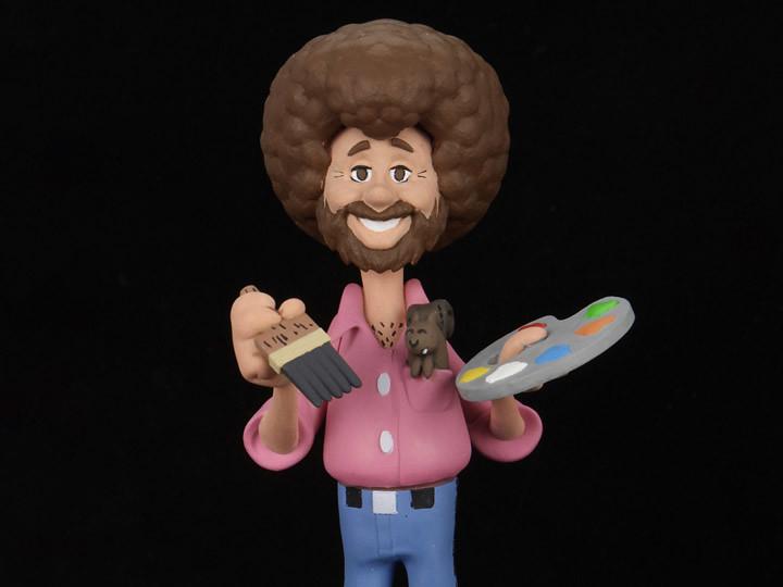 讓我們畫一朵快樂的雲朵~NECA《歡樂畫室》鮑伯·魯斯與松鼠Peapod 6吋人偶作品(The Joy of Painting Toony Classics Bob Ross With Peapod)