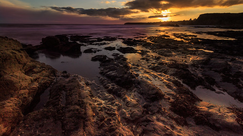 2020 beach benvoy landscape march outdoor rocks sun sunset water clouds coast coastal coastline cove ireland munster sea sky stones waterford