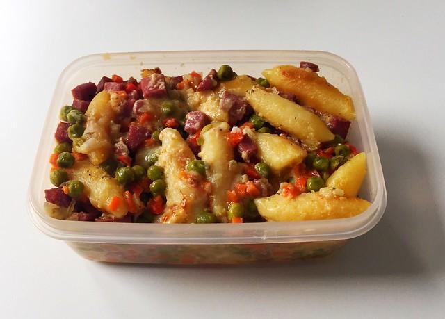 Schupfnudel-Salami-Gratin - Resteverbrauch / Leftovers