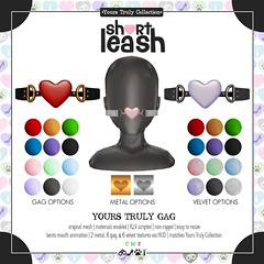 .:Short Leash:. Yours Truly Gag