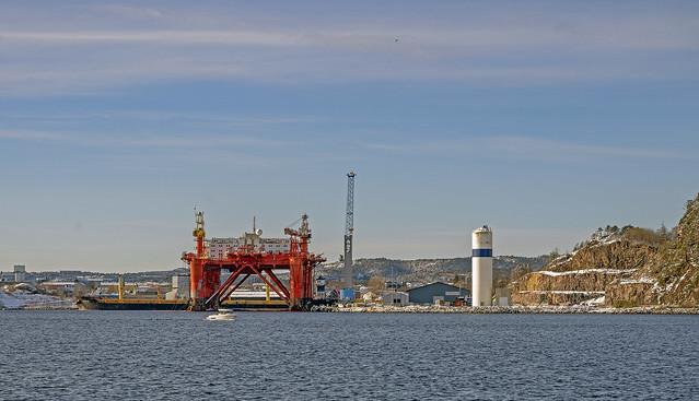 The new harbor in Kristiansand