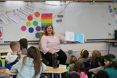 Rep. Haines celebrated Read Across America with Ms. Mazzotta's 4th Grade Class at East Hampton Center Elementary School.