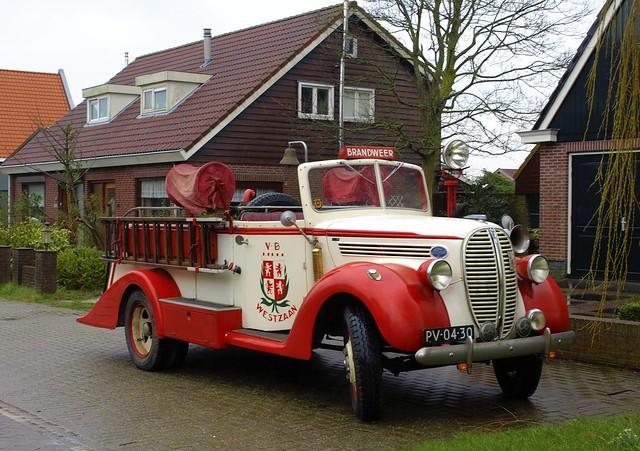 1938 Ford V8 brandweerwagen
