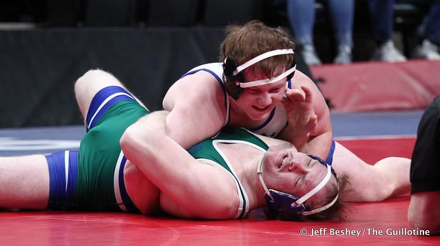 195A Semifinal - Colton Krell (Westfield Razorbacks) 33-3 won by fall over Tyler VanLuik (Minnewaska Area) 50-1 (Fall 3:11). 200229AJF1738