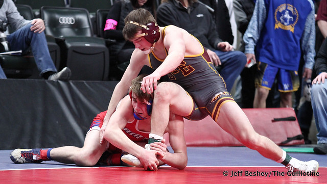 138A Semifinal - Will Magaard (Kerkhoven-Murdock-Sunburg) 50-4 won by decision over Taylor DeFrang (Dover-Eyota) 28-4 (Dec 4-2). 200229AJF1333