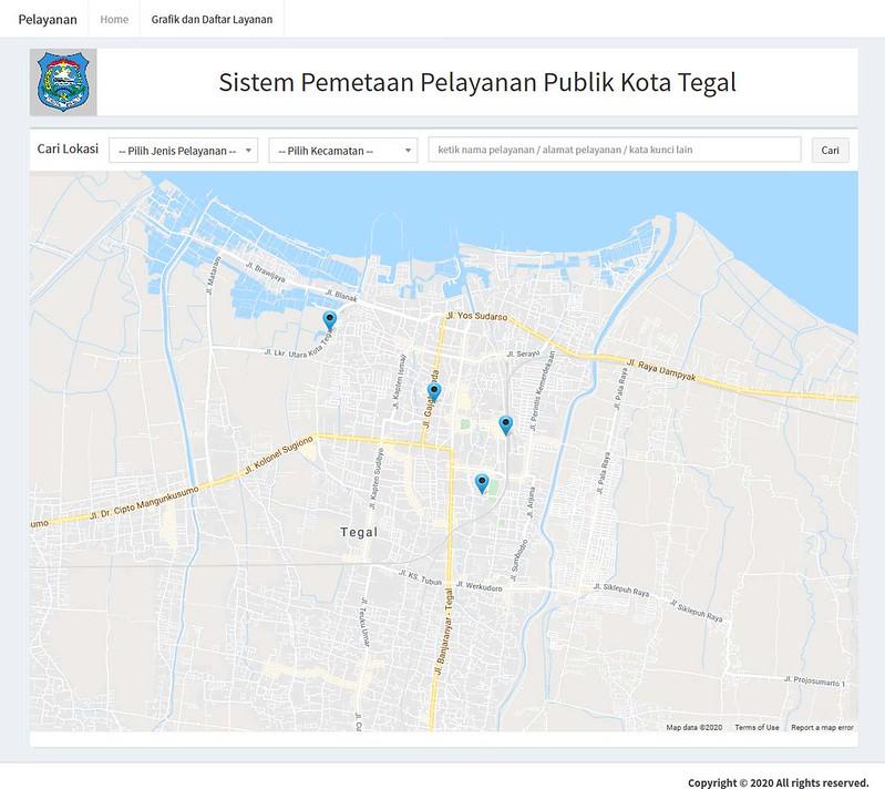 Sistem Pemetaan Pelayanan Publik Kota Tegal