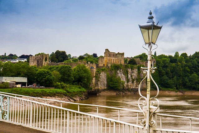 Chepstow Castle from the Old Bridge