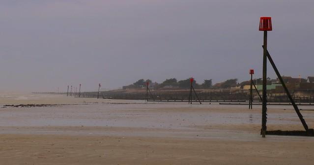 Wind swept West Sussex Beach