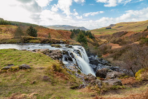 loupoffintry carron valley central scotland waterfall landscape water endrick