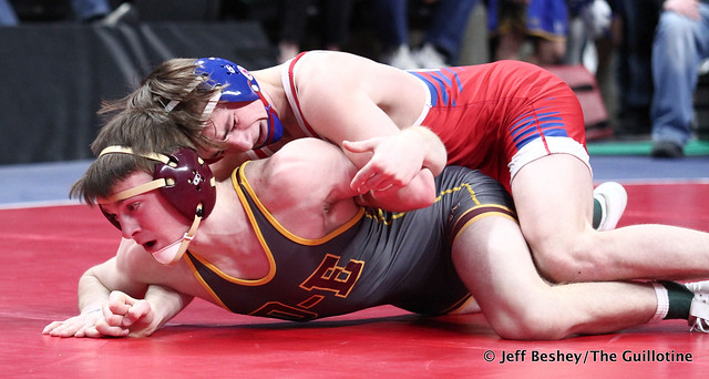138A Semifinal - Will Magaard (Kerkhoven-Murdock-Sunburg) 50-4 won by decision over Taylor DeFrang (Dover-Eyota) 28-4 (Dec 4-2). 200229AJF1319