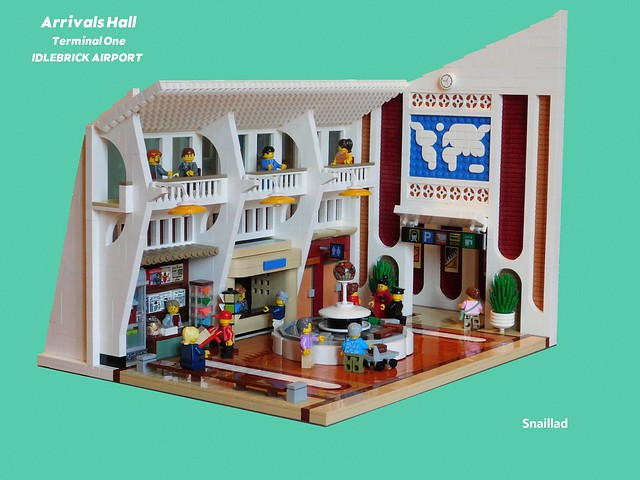 LEGO airport arrivals hall terminal