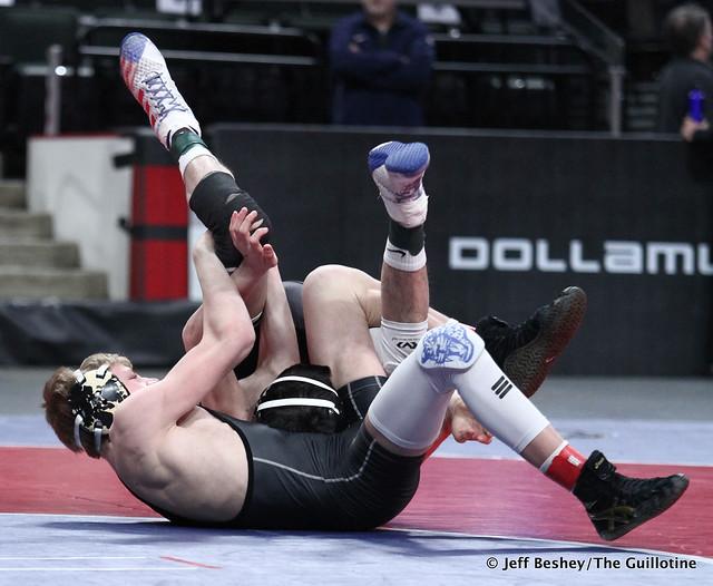 106A 1st: Walker Bents (Belgrade-Brooten-Elrosa) 46-4, So. over Anthony Romero (GMLOS) 44-4, Jr. (Fall 0:30). 200229CJF0009