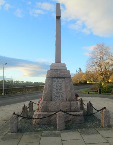 Fyvie War Memorial from East