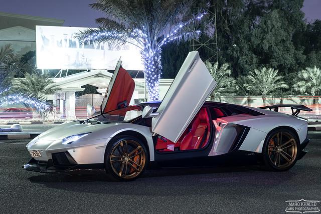 Matte Silver Lamborghini Aventador