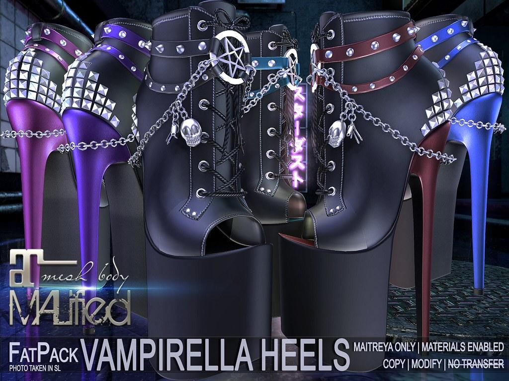 MALified - Vampirella Peep-Toe Heels: FatPack