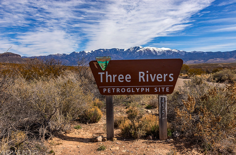 Three Rivers Petroglyph Site Sign
