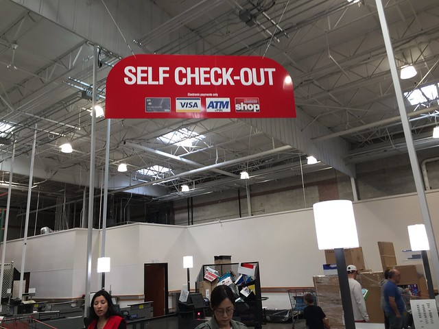 Self check-out at Costco