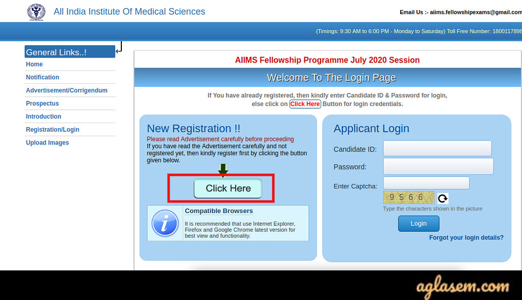 AIIMS Fellowship July 2020 Application Form