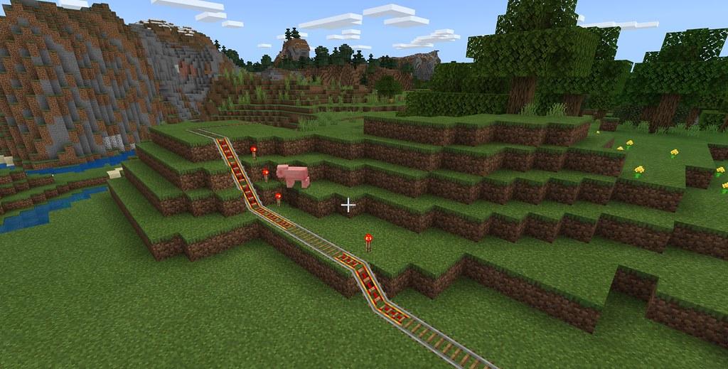 49612501168 c7509d46d6 b - Minecraft Starter-Guide: So baut ihr ein Schienen-Transportsystem