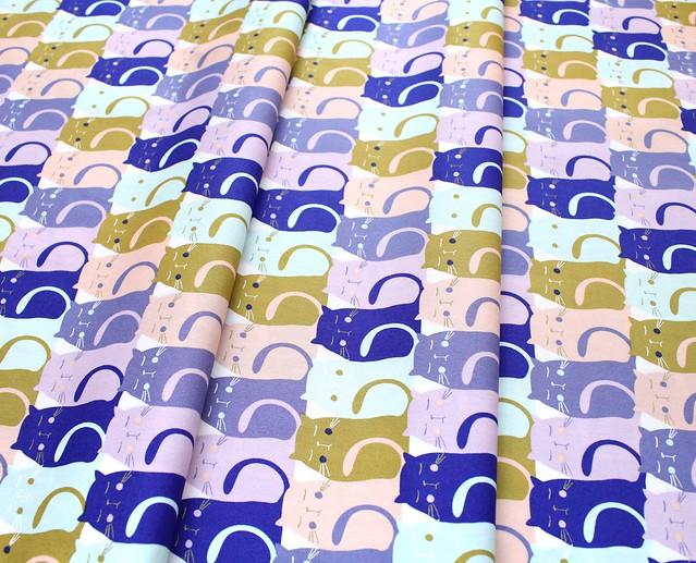 Art Gallery Fabrics Oh, Meow! Catitude Slumber
