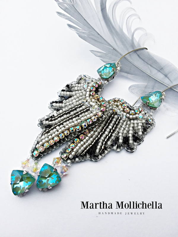 Angel Wings jewels earring handmade by Martha Mollichella