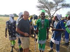 Grupo wodaabe ensayando para la fiesta Gerewol. Chad