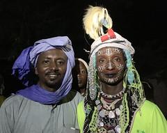 Guini, con un tipo wodaabe. Al sur de Massenya. Chad