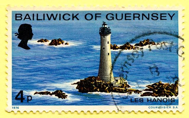great stamp Guernsey 4p lighthouse Les Hanois (Leuchtturm, farol, latarnia morska, phare, мая́к, faro, 信号塔 svetilnik фар fyrtårn ประภาคาร منارة, majakka maják, fyret tuletorn מגדלור  fyr प्रकाशस्तंभ ) Bailliage de Guernesey timbre Bailiwick of Guernsey