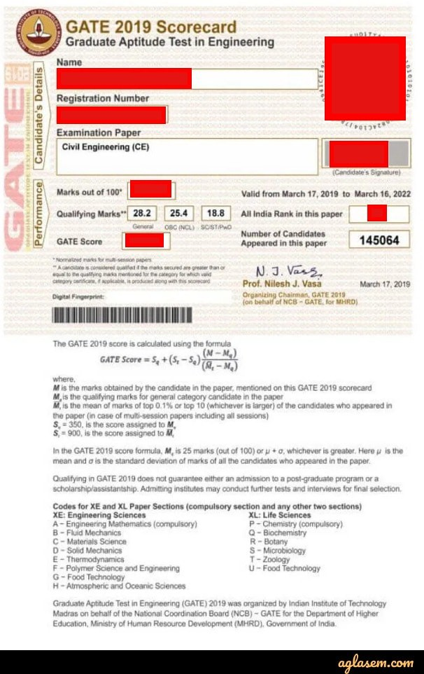 GATE 2020 Result (Released) - Download Scorecard at gate.iitd.ac.in
